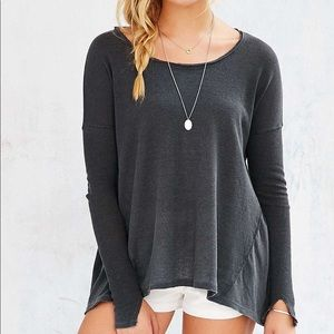 Urban Outfitters Ecote Grey Riley Thermal Top